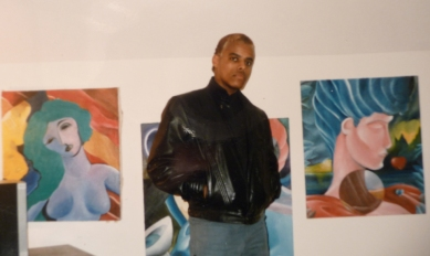The Author with His So-So Paintings in the '80s